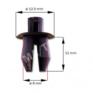 Agrafe cache moteur essuie-glace/revêtement, noir