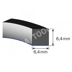 Mousse caoutchouc Thermopen autoadh., 6,4x6,4 mm, 20 m