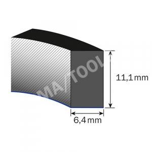 Mousse caoutchouc Thermopen autoadh., 6,4x11,1 mm, 20 m