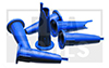 Buses pour cartouches, prédécoupé, bleu, 12 pcs. en sachet