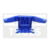 MITSUBISHI Outlander, 03-06, Clip PB enjoliveur latéral, gauche, bleu