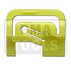 MITSUBISHI Outlander, 03-06, Clip PB carrosserie latéral, jaune