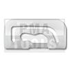 MITSUBISHI Galant E30 5p, 88-92, Clip PB carrosserie latéral, blanc