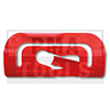 MITSUBISHI Space Star, 98-05, Clip PB carrosserie latéral, rouge