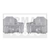 AUDI A4, 01-07, Kit réparation vitre latérale, gauche, 2 pcs.