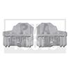 AUDI A4, 01-07, Kit réparation vitre latérale, droit, 2 pcs.