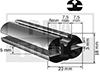 Joint caoutchouc, 23x18 mm, 20 m